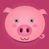 Imagen del vector de una cabeza del cerdo Imagen de archivo