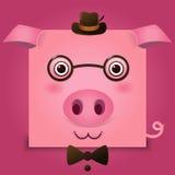 Imagen del vector de una cabeza del cerdo Foto de archivo