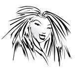 Imagen del vector de una cara de los womans Fotos de archivo