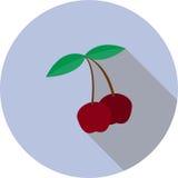 Imagen del vector de una cereza dulce Imágenes de archivo libres de regalías