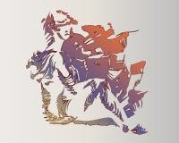 Imagen del vector de una mujer anfibia fant?stica ilustración del vector