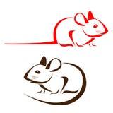 Imagen del vector de una rata Imagen de archivo libre de regalías