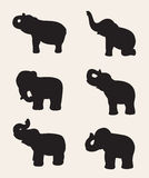 Imagen del vector de una silueta del elefante Imagenes de archivo