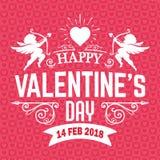Imagen del vector de Valentine Day Pink Cupid 2018 Fotografía de archivo libre de regalías
