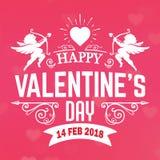 Imagen del vector de Valentine Day Pink Cupid February Fotos de archivo libres de regalías