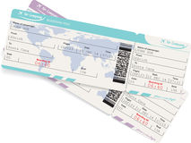 Imagen del vector del boleto del documento de embarque de la línea aérea Imagenes de archivo