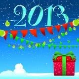 Imagen del vector del fondo del Año Nuevo 2013 Fotografía de archivo libre de regalías