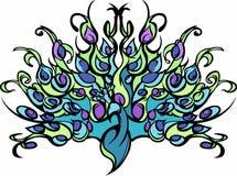 Imagen del vector del pavo real Fotos de archivo libres de regalías