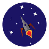 Imagen del vector del vehículo espacial stock de ilustración