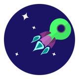 Imagen del vector del vehículo espacial Imágenes de archivo libres de regalías