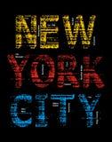 Imagen del vector del Grunge de New York City Fotos de archivo