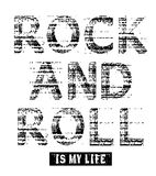 Imagen del vector del Grunge del rock-and-roll Fotografía de archivo libre de regalías