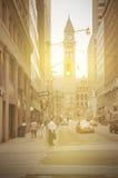 Imagen del vintage del centro de ciudad de Toronto Fotos de archivo