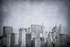 Imagen del vintage del horizonte de New York City stock de ilustración