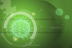 Imagen del virus 3d Imagen de archivo libre de regalías