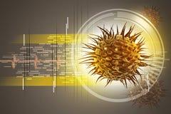 Imagen del virus 3d Fotos de archivo