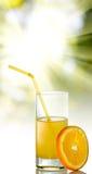 Imagen del zumo anaranjado y de naranja fotografía de archivo libre de regalías