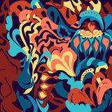Imagen dibujada mano abstracta colorida Imagen de archivo libre de regalías