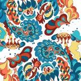 Imagen dibujada mano abstracta colorida Imagenes de archivo