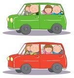 Viaje del coche familiar stock de ilustración