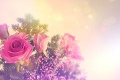 Imagen diseñada retra de flores Imagen de archivo libre de regalías