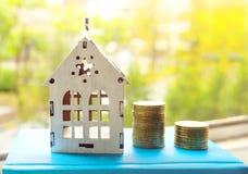 Imagen en el dinero, cr?dito del concepto para las nuevas viviendas fotografía de archivo libre de regalías