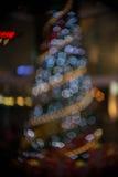 Imagen enfocada/borrosa del De de luces Enmascare las luces Bokeh ligero Fotos de archivo libres de regalías