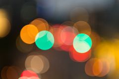 Imagen enfocada/borrosa del De de luces Enmascare las luces Bokeh ligero Foto de archivo