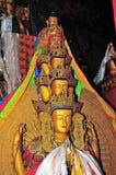 Imagen esculpida cobre Fotografía de archivo