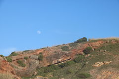 Imagen evocadora de los alrededores de la ciudad de Nazaré - Portugal Fotos de archivo