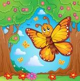 Imagen feliz 4 del tema de la mariposa Imagenes de archivo