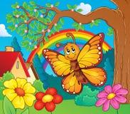 Imagen feliz 3 del tema de la mariposa Imagenes de archivo