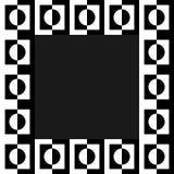 Imagen geométrica, marco de la foto en formato squarish stock de ilustración
