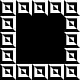 Imagen geométrica, marco de la foto en formato squarish ilustración del vector