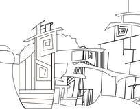 Imagen gráfica de la ciudad stock de ilustración