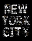 Imagen gráfica del vector de la camiseta del Grunge de New York City Imagen de archivo libre de regalías