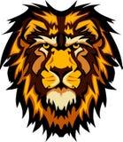 Imagen gráfica principal de la mascota del león Imágenes de archivo libres de regalías