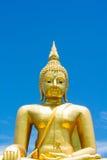 Imagen grande de buddha en Tailandia foto de archivo