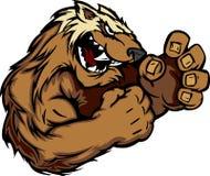 Imagen gráfica de una mascota del carcayú o del tejón Foto de archivo libre de regalías