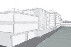 Imagen gris del vector del mano-colorante de la calle libre illustration