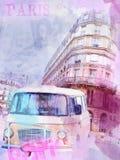 Imagen hermosa de París stock de ilustración
