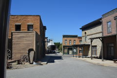 Imagen hermosa de una calle abandonada Foto de archivo libre de regalías