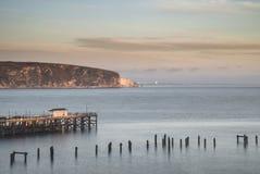 Imagen hermosa del paisaje de la salida del sol colorida sobre el océano y el der Fotografía de archivo libre de regalías
