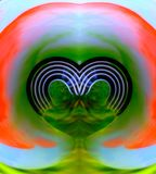 Imagen hermosa del papel pintado del corazón, imagen del papel pintado del fondo imagen de archivo