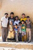 Imagen ilustrativa editorial Adolescentes en la calle, la India Imagen de archivo libre de regalías