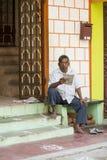 Imagen ilustrativa editorial Casa coloreada indio Fotografía de archivo libre de regalías