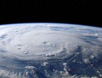 Imagen impresionante de un hurac?n gigante en tierra del planeta seg?n lo visto del espacio fotografía de archivo libre de regalías
