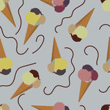 Imagen inconsútil del vector del helado Foto de archivo libre de regalías