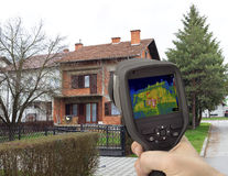 Imagen infrarroja de la fachada de la casa Fotos de archivo libres de regalías