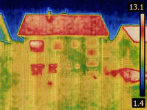 Imagen la termal de la casa Fotografía de archivo libre de regalías